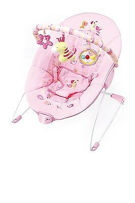 Cute Baby - Pink Giraffe - Vibration Bouncer(6787)
