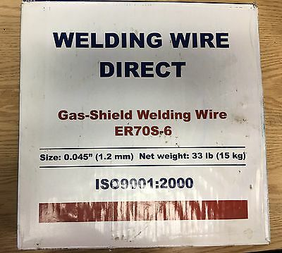 "33 LB ROLL OF ER70S-6 X .045"" (1.2 mm) MIG WIRE Welding Wire Direct"