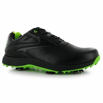 Dunlop Hommes Cuir Biomimetic 300 Golf Baskets Chaussures Crampons Sport Lacets