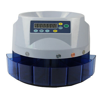 MT8 Automatic Dollar Coin Counter Money Sorter Electronic Bank Cash Sorting Tool