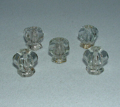 Vintage Antique Glass Cabinet Door Pulls Drawer Knobs