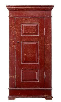 19Th Century Red Lacquered Chinese Cupboard