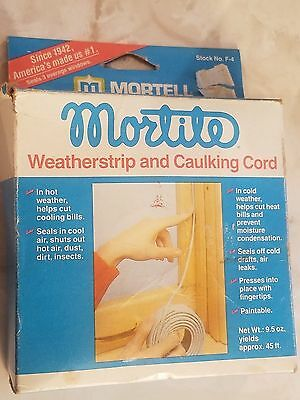 NEW Mortite Weatherstrip And Caulking Cord, No F4, Thermwell  45 Feet FT