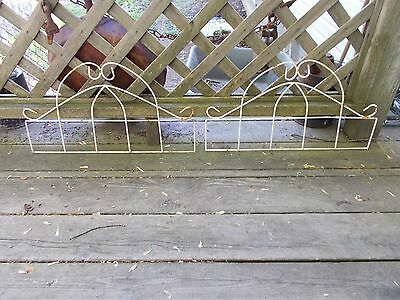 Vgt  Garden Fence Pieces Parts Ornate Wall Hanging Flower Decor Coated Metal