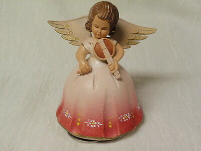 Toriart Italy Reuge Vintage Rotating Angel Music Box Swiss Movement
