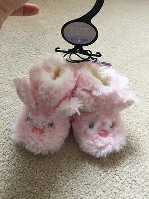 Fluffy Pink Baby Girl Boot/ Slippers 0-3 Months