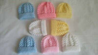 Baby Premature & Newborn Hand Knit Hats New