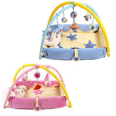 Bear Musical Sensory Activity Gym/Mat with Sides, Music and Toys for Baby