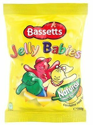 Bassetts Jelly Babies 190G Bag X 5