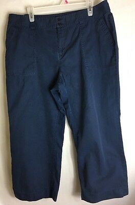 Lauren Ralph Lauren, Navy Blue Cropped Pants Size 16W