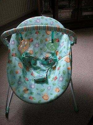Bright Starts vibrating baby bouncer safari pattern