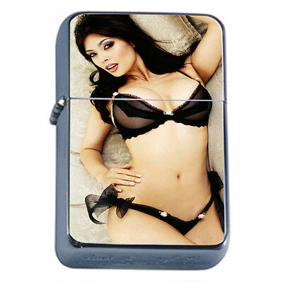 Russian Pin Up Girl D6 Windproof Dual Flame Torch Lighter Refillable