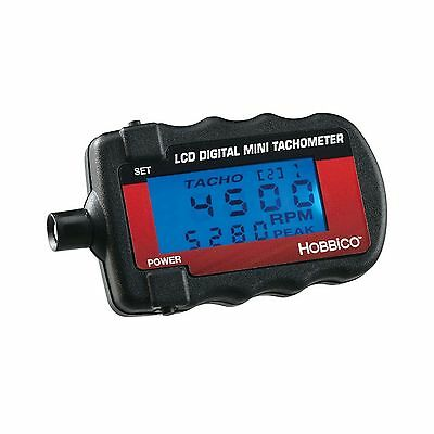 Hobbico Mini Infrared Digital Tachometer with Blue Backlit LED Display New
