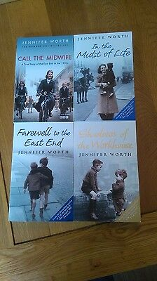 collection of four jennifer worth paperback books