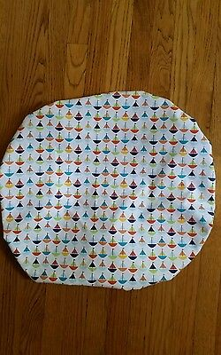 """Baby Boppy Newborn Lounger Pillow Cover in """"SAILBOATS"""" Pattern~NEW"""