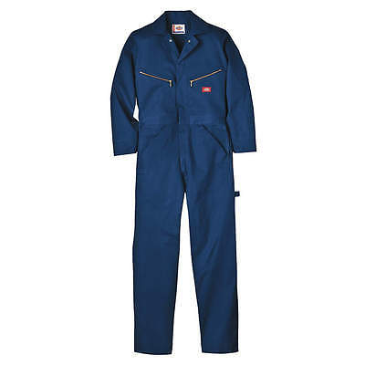 Dickies Long Sleeve Coveralls, Cotton, Navy, 3X 48700DN-3XL