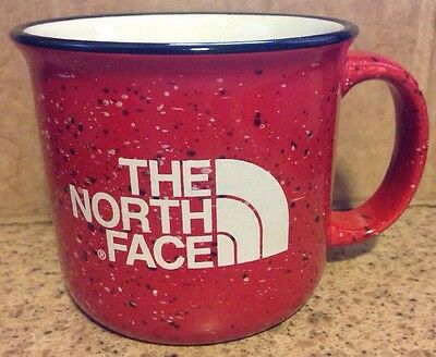 New Rare The North Face Coffee Tea Mug Cup  Black Red White Confetti Speckled