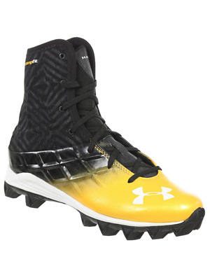 Under Armour Youth Highlight Boys Football Shoes Rm Black Gold 1.5Y