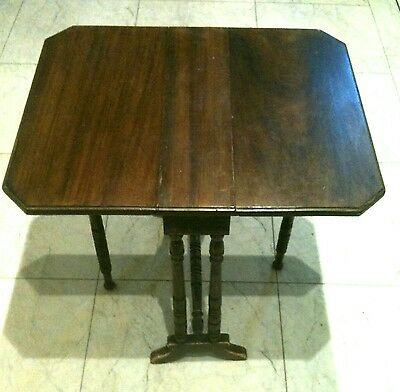Small Gateleg Table Fold Away Gate Leg Mahogany Veneer Wooden