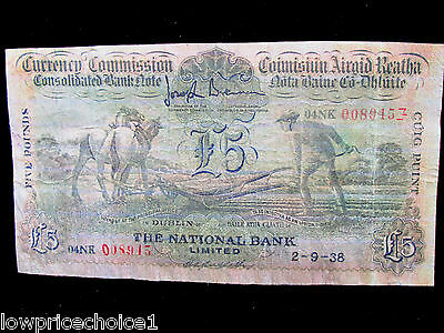 *REPRODUCTION* IRISH PLOUGHMAN £5 Provincial Bank of Ireland Note.