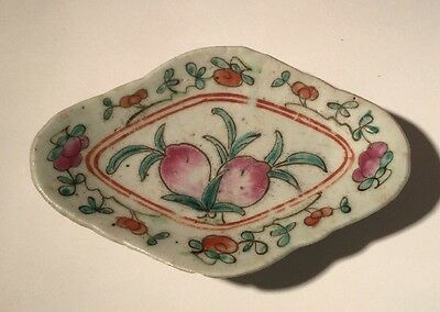 Antique Chinese Tongzhi Late 19th Century Peach Dish (13.1cm Long)