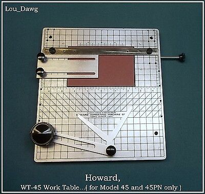 Howard Machine Personalizer ( WT-45 Work Table ) Hot Foil Stamping Machine