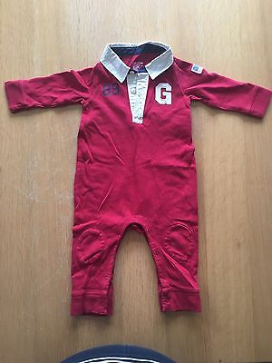Baby Boys Red Gap Sleepsuit/All-in-one 6-12 Months