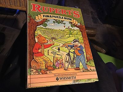 Rupert Fun and Puzzle Book 1983 excellent condition