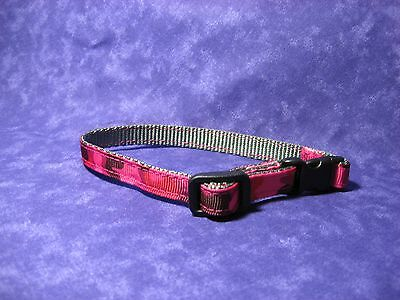 "Hot Pink Camo Adj 3/8"" Pet Collar"
