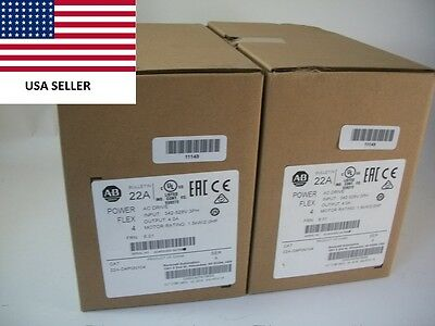 *Ships Today 2016* Allen Bradley 22A-D4P0N104 Power Flex 4 Drive New Sealed 2HP