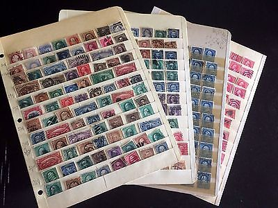US STAMPS Lot of (4) Stock Sheets with Various 1800's & 1900 Classics USED -21