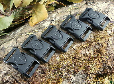"""20Mm 3/4"""" Contoured Curved Locking Quick Release Paracord Survival Buckles"""