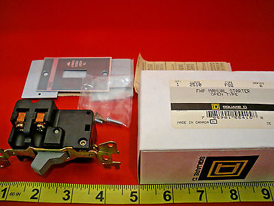 Square D 2510 F02 Ser A FHP Manual Starter Open Type 2510F02 Nib New