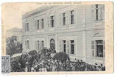Turkey / Gruss aus Deutschen School in Salonique, Ottoman Period, RARE