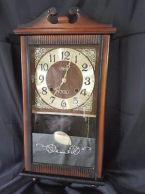 Rhythm 30 Day Chiming Mechanical Wooden  Cased Wall Clock