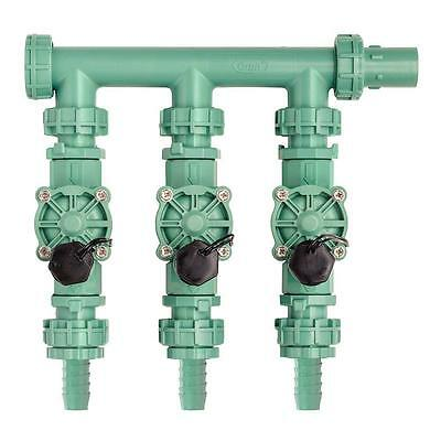 Orbit 91207 3 Valve Preassembled Manifold, Poly Pipe