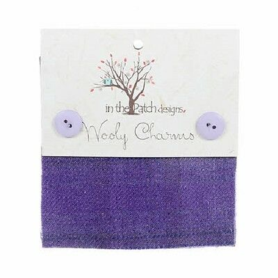 """Lilacs Hand Dyed Wool - 5ea 5""""x5"""" Wooly Charms WC4892"""