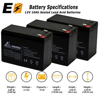 UPG 12V 10AH Replacement for  Schwinn Missile FS Scooter Battery WITH CHARGER
