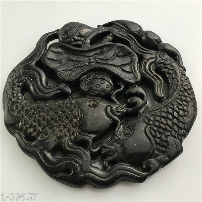 Old Chinese Hand carved jade pendant decoration collection gift   995