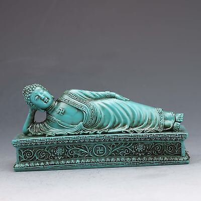 Chinese resin Hand-carved  Sleeping Buddha Statue  a1a