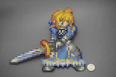 Saber Fate Stay Night Type Moon Perler Hama Artkal Bead Pixel Art