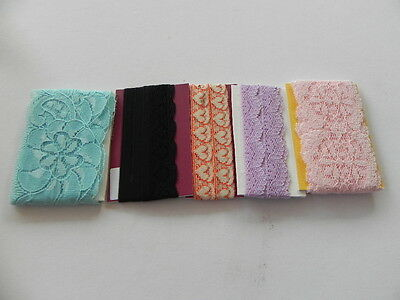 Pack of 5 x 1mt lengths of New Lace - 2