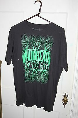 Radiohead King of Limbs Tour RARE NYC Roseland Ballroom Concert T Shirt Size 2X