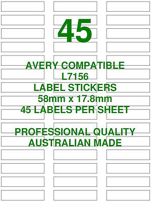 Avery L7156 Compatible Address Shipping Labels Stickers 45 X 10 Sheets Laser