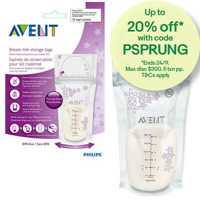 Philips Avent SCF603 25PK Breast Milk Storage Bags 180ml BPA Free/Baby Feeding