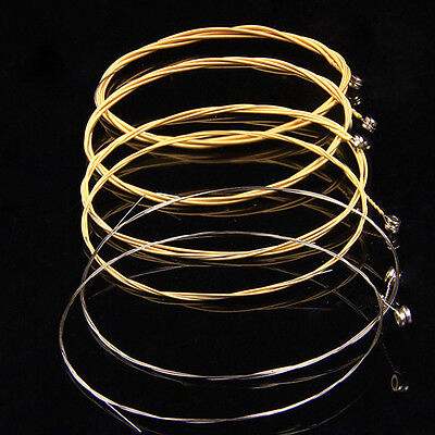 6pcs/set Light Stainless Steel Coated Copper Acoustic Guitar Strings