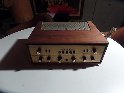 Vintage FISHER PRESIDENT 400CX-2 stereo  tube pre amplifier Marantz 7