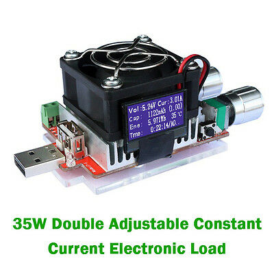 USB Electronic Load Constant Current Battery Discharge Capacity Current A27R