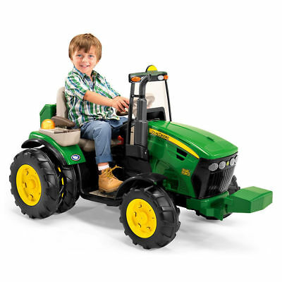 John Deere 126cm 12V Electric Ride On Dual Force Tractor/Toy/Kids/Child/Car