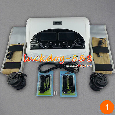 Dual Foot Detox Ionic Bath Spa Cell Cleanse 2 Far Belts System 5 Modes 2 Arrays
